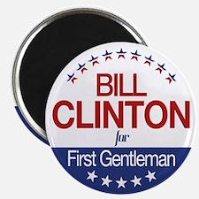 """Bill Clinton For First Gentleman 2.25"""" Magnet (100"""