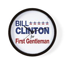 Bill Clinton For First Gentleman Wall Clock