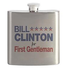 Bill Clinton For First Gentleman Flask