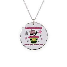 Looking Fabulous 50th Necklace Circle Charm