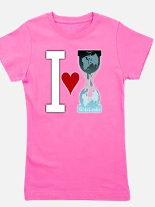 i heart wikileakswhite Girl's Tee