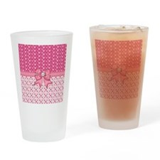 Little Pink Hearts  Drinking Glass