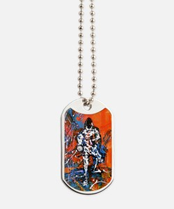 Abstract Epee_4 Dog Tags