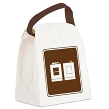 brown_laundry_sign_real Canvas Lunch Bag