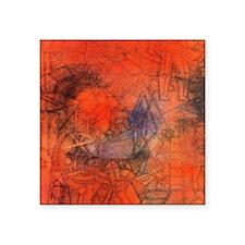 "Groynes by Paul Klee Square Sticker 3"" x 3"""