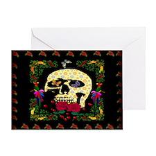 Hippie Era Skull Greeting Card