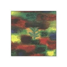 """Little Tree in Shrubbert by Square Sticker 3"""" x 3"""""""