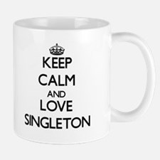 Keep calm and love Singleton Mugs