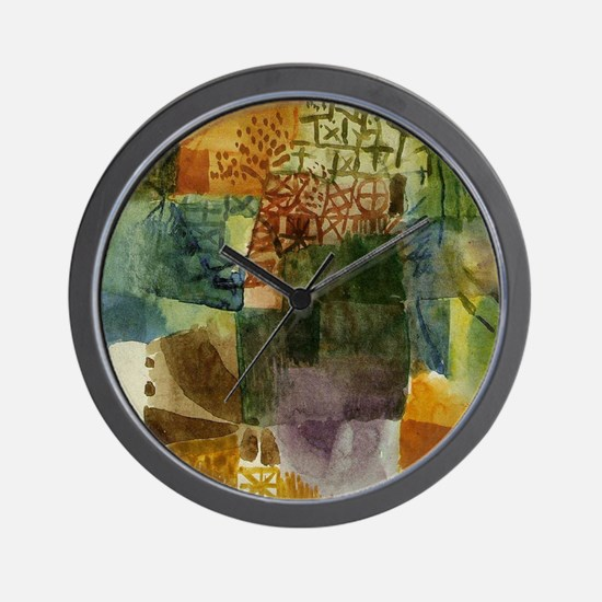 Remembrance of a arden by Klee Wall Clock