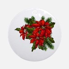SPARKLING POINSETTIAS Ornament (Round)