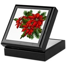 SPARKLING POINSETTIAS Keepsake Box