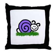 Sam the Snail Throw Pillow