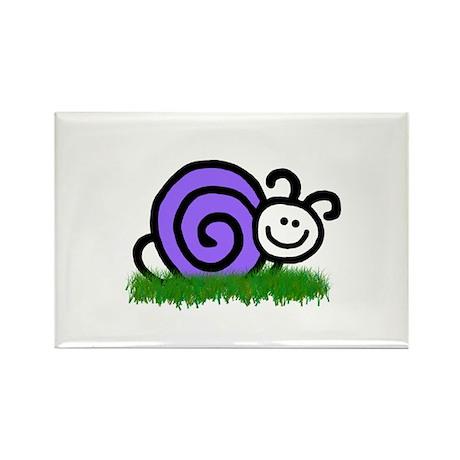 Sam the Snail Rectangle Magnet (100 pack)