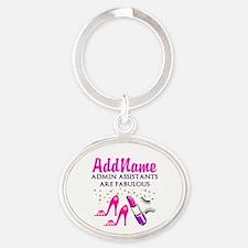 BEST ADMIN ASST Oval Keychain