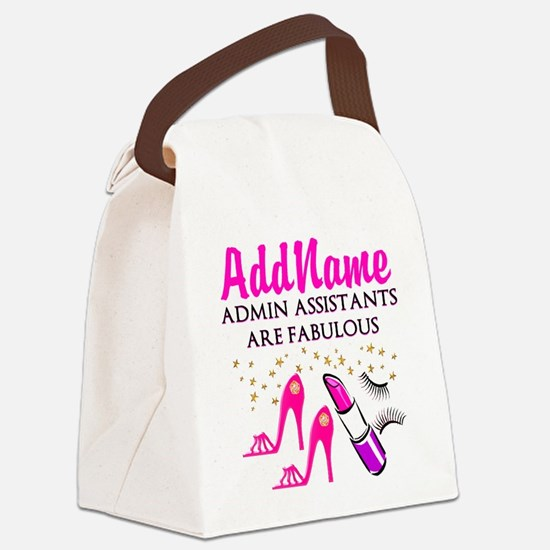 BEST ADMIN ASST Canvas Lunch Bag