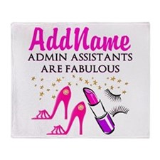BEST ADMIN ASST Throw Blanket