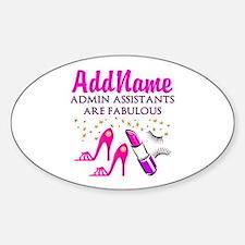 BEST ADMIN ASST Sticker (Oval)