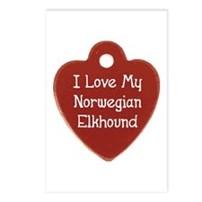 Elkhound Tag Postcards (Package of 8)