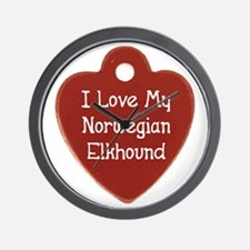 Elkhound Tag Wall Clock