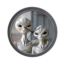 Alien Couple - Wall Clock