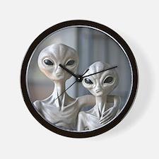 Alien Couple - Wall Clock