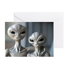 Alien Couple - Greeting Cards (Pk of 10)