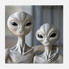 Alien Couple - Tile Coaster
