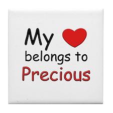 My heart belongs to precious Tile Coaster