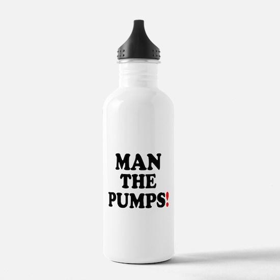MAN THE PUMPS! Sports Water Bottle