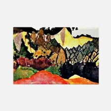 Klee - In the Quarry, colorful Pa Rectangle Magnet
