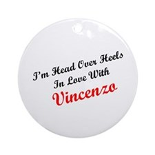 In Love with Vincenzo Ornament (Round)