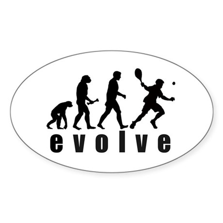 Evolve Tennis Oval Sticker