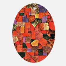 Klee - Mountain Village, painting by Oval Ornament