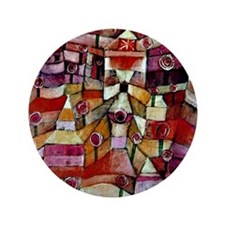 """Klee - Ose Garden, painting by Paul Kl 3.5"""" Button"""