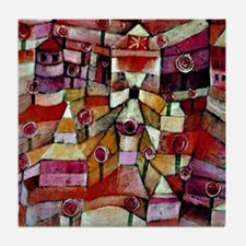 Klee - Ose Garden, painting by Paul K Tile Coaster