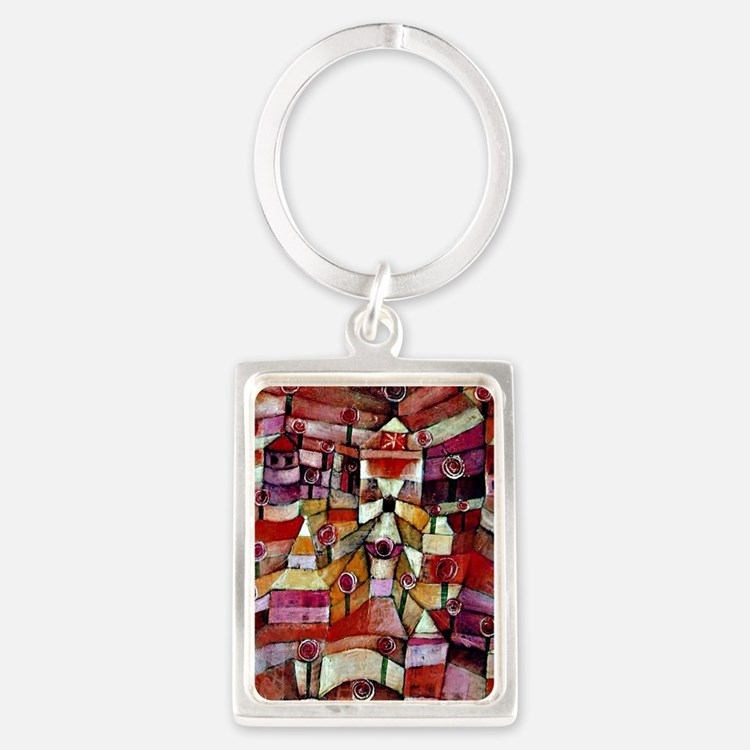Klee - Ose Garden, painting by P Portrait Keychain
