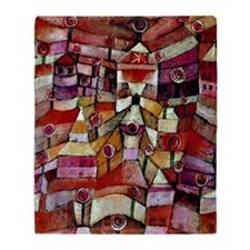 Klee - Ose Garden, painting by Paul  Throw Blanket