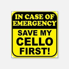 Save My Cello Rectangle Sticker