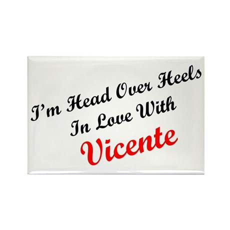 In Love with Vicente Rectangle Magnet (100 pack)