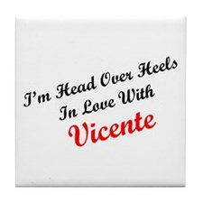 In Love with Vicente Tile Coaster