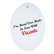 In Love with Vicente Oval Ornament