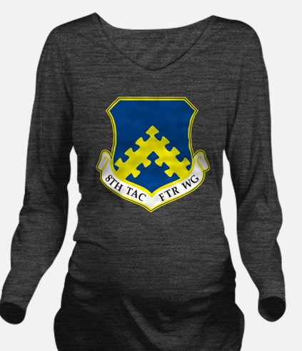 8th Tactical Fighter Long Sleeve Maternity T-Shirt
