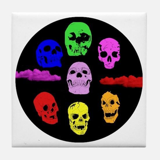 Seven Skulls Tile Coaster