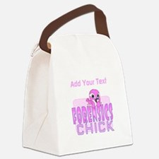 Forensics Chick Canvas Lunch Bag
