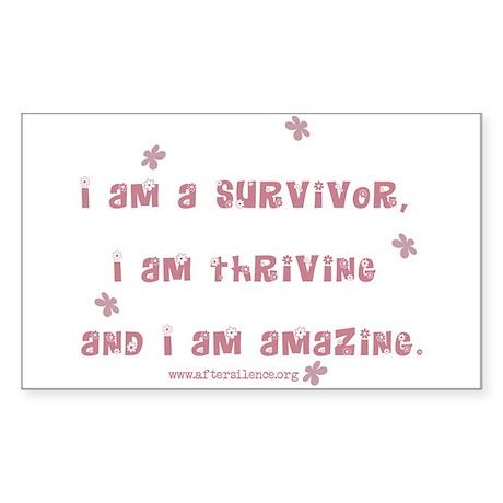 I am Amazing Rectangle Sticker
