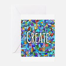 Create - inspiring words Greeting Cards