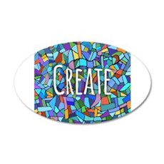 Create - inspiring words Wall Sticker