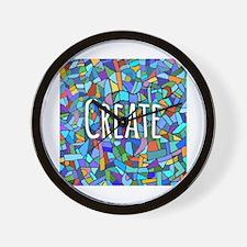 Create - inspiring words Wall Clock