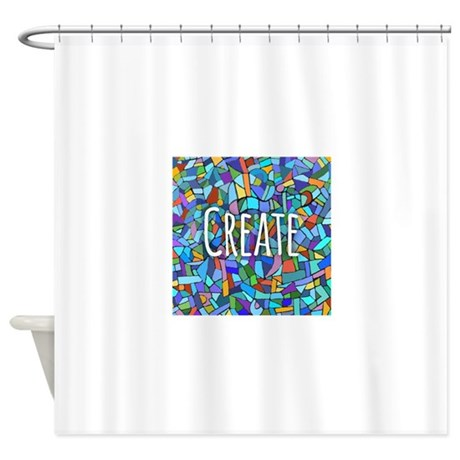 Create Inspiring Words Shower Curtain By Admin Cp49789583