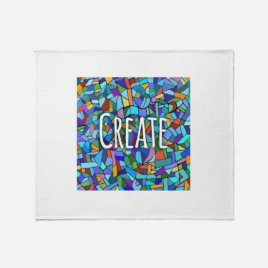 Create - inspiring words Throw Blanket